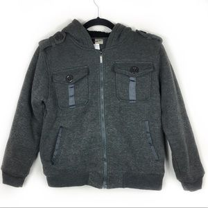 DN Jeans Gray Hood Jacket, size Large